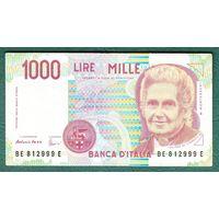 ИТАЛИЯ  1000 лир 1990 год