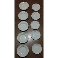 Тарелки общепит 5 штук для первого и 5 штук для второго