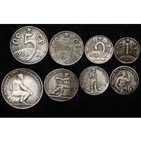 Набор 4 монеты 1,2,3,5 копеек 1926г посеребрение пробные #4