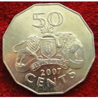 7432:  50 центов 2007 Свазиленд