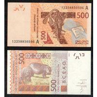 Кот-дИвуар 500 франков 2012 UNC