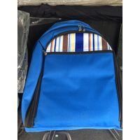 Рюкзак с комплектом посуды для пикников (можно использовать как школьный)