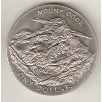 Новая Зеландия 1 доллар 1970 Гора Кука