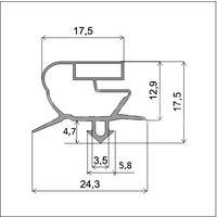 Уплотнительный профиль для дверей холодильника (profile_018)