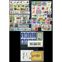 ГДР - 1979г. - Полный годовой набор - MNH [Mi 2388-2477] - 67 марок, 4 сцепки, 3 блока, 2 малых листа