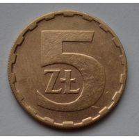 Польша 5 злотых, 1988 г.