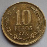 Чили, 10 песо 2010 г