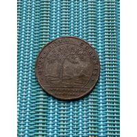 Памятный жетон Франция 1711 г, Людовик XlV, редкий