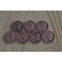 Пакистан 1 рупия 1998,99,00,01,02,04,05 г