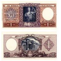 Аргентина. 1 песо 1952-55. UNC-