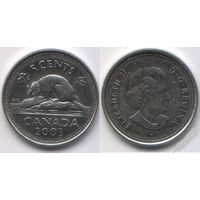 КАНАДА 5 центов 2003г. Фауна.