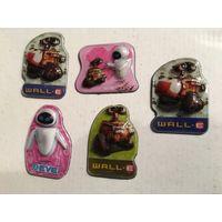Магниты детские по мультику Валли Дисней  5 Шт Продаются набором