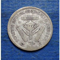 Южная Африка Британский доминион 3 пенса 1933 Георг V