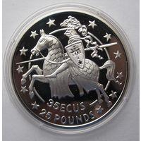 Гибралтар 35 ЭКЮ 1991 Рыцарь - серебро 28,28 гр. 0,925 - редкая, тираж не известен!