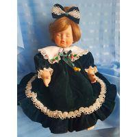 Фарфоровая кукла-сплюшка (Германия, 30 см)