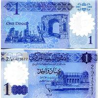 Ливия  1 динар 2019 год   UNC  полимер