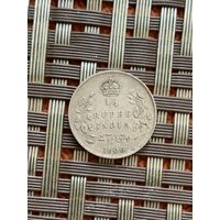 Британская Индия 1/4 рупии 1906 г.