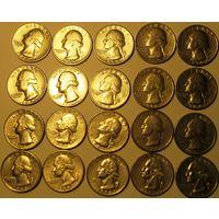 25 центов (квотер) 1965-98 США Список внутри. Обновлено 24.09.21
