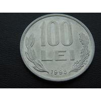 100 лей 1993 года  РУМЫНИЯ.