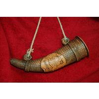 Рог Беларусь с погоней, керамика из глины