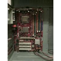 Материнская плата + процессор 2,8 Ghz.