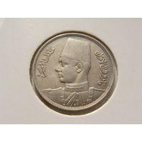 """Египет. 10 миллим 1938 год """"Король Фарук"""" KM#364"""