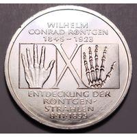 "ФРГ, 10 марок 1995 год, ""Вильгельм Конрад Рентген"""