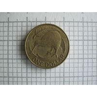 Новая Зеландия, 1 доллар 1990 г.