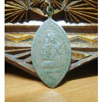 Медальон католический польский, бронза
