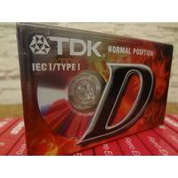 Кассета новая TDK D-90.