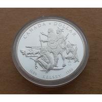 Канада, 1 доллар 1990 г., Келси, серебро