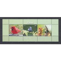 Птицы. Джибути. 2010. Малый лист из 3-х марок
