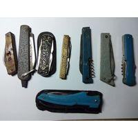 Кучка советских перочинных ножей