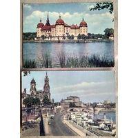 Открытки с видами немецких городов. Германия. 1950-60-е. 8 штук. Чистые (7 шт)