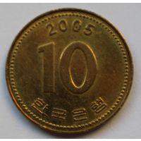 Южная Корея 10 вон, 2005 г.