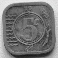 Нидерланды 5 цент 1941