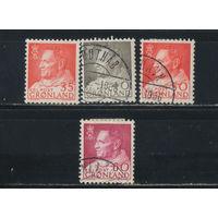 Дания Гренландия автономия 1963-8 Фредерик IX Стандарт #53,54,65,69