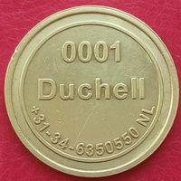 Игровой токен -NO CASH VALUE -0001 DUCHELL - 5-ый разновид