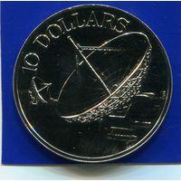 Сингапур 10 долларов 1980 , Космос , Proof
