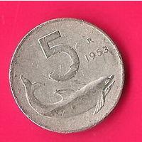 49-11 Италия, 5 лир 1953 г.