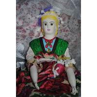 """Будуарная кукла/куколка, - девочка - """"Весна по имени АннА"""" - Выполена с нуля и полностью вручную вылеплена из Папье-Маше c тельцем из крестьянского льна (набитое рисиком), со вставными глазами так же"""
