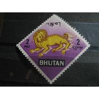 Марки - фауна, Бутан, дракон
