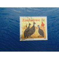Зимбабве 1990г. Птицы.