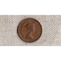 ЮАР 1 фартинг 1/4 пенни 1957 /фауна/(JL)