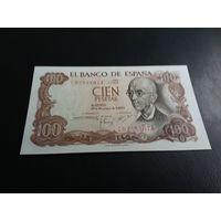 Испания 100 песет 1970 год состояние UNC