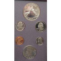 США, набор, 1988, серебро, пруф