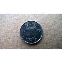 Нидерланды 25 центов, 1973г.  (Б-3)