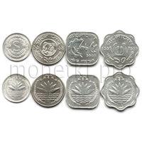 Бангладеш 4 монеты 1974-1994 годов