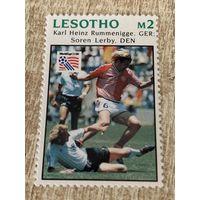 Лесото 1994. Чемпионат мира по футболу США 94. Марка из серии