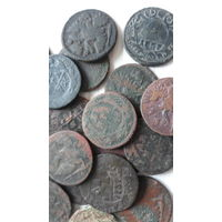 Денги 20 шт от 1730 до 1798